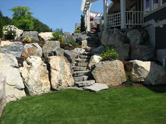 Staircases abbotsford landscaping and excavating located for Landscaping rocks vancouver wa
