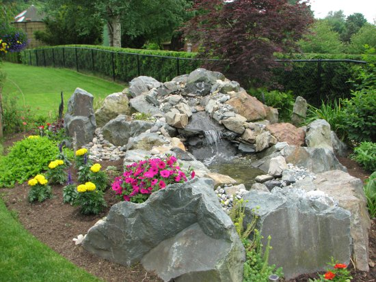 Waterfalls vancouver landscaping and excavating located in for Waterfall installation